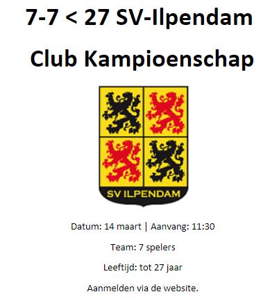 7-7 - tot 27 jaar / SV-Ilpendam Club Kampioenschap
